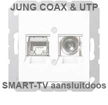 JUNG SMART-TV aansluitdoos