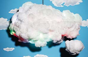 Cloud wolk lamp