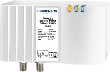 Hirschmann MOKA 32 internet-over-COAX adapter